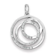 4 pcs silver tone Special Nana rhinestone heart charms 16mm x 14mm 63