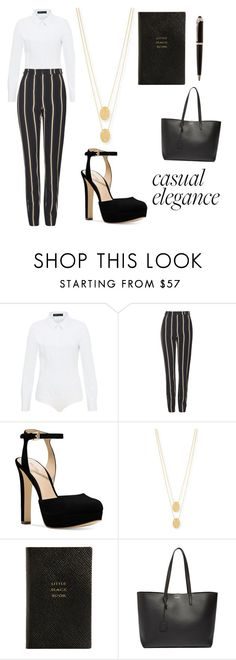 buisness chic by liasmith21 on Polyvore featuring Hallhuber, Topshop, Michael Kors, Yves Saint Laurent, Jennifer Zeuner, Smythson, chic, Work and buisness