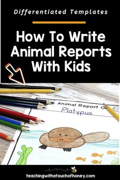 Ready to create animal research projects with your grade one, grade two, and grade three students? Support your students through each stage of the report writing process as they write their animal reports. Informative writing can be a challenge for kids. Make it is easy with these differentiated templates. BUY NOW! Teach W.1.2, W.1.5, W.2.2, W.2.5, W.3.2, and W.3.5 with animal reports. Writing Lesson Plans, Writing Lessons, Writing Resources, Writing Help, Writing Skills, Writing Activities, Writing Process, Informational Writing, Informative Writing