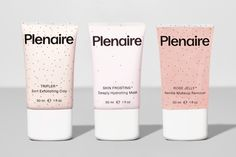 Plenaire Sustainable Gen Z Skincare Beauty Brand Skincare Branding, Skin Frost, Hydrating Mask, Cosmetic Packaging, Clay Masks, Clean Beauty, Makeup Remover, Biodegradable Products, Cleanser