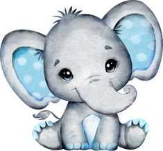 Baby Elephant Drawing, Baby Animal Drawings, Cute Baby Elephant, Elephant Baby Showers, Cute Drawings, Cute Elephant Cartoon, Baby Elephants, Elephant Art, Dibujos Baby Shower