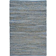 Add a unique touch to your home decor with this hand crafted blue jeans rug. This rug is constructed of recycled denim and natural hemp, is completely reversible and extremely durable and is finished with blue cotton edging.