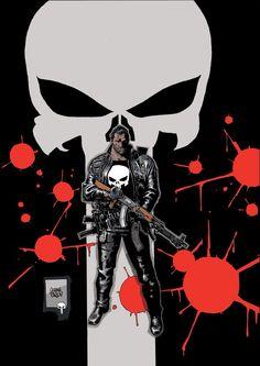 Punisher by Goran Parlov Daredevil Punisher, Punisher Comics, Marvel Dc Comics, Marvel Heroes, Punisher Skull, Comic Book Characters, Comic Character, Comic Books Art, Book Art
