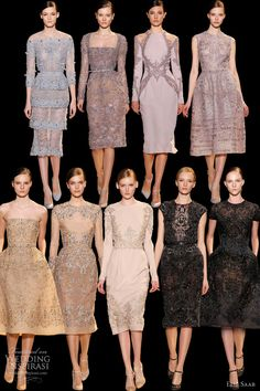 elie saab spring 2013 couture short embroidered dresses strapless sleeves