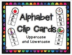 Ready for the beginning of the year, new Alphabet Clip Cards! Provided are both uppercase and lowercase in color and black and white! Included extension activity, end sounds for each picture are on the same card - it's 2 activities in one!