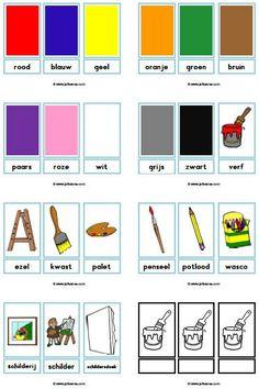 New topic: Colors Dino Museum, Art Museum, Preschool Worksheets, Preschool Activities, Learn Dutch, Dutch Language, Fantasy Kunst, Art Themes, Kids Prints