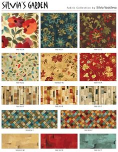 Gorgeous floral collection creates smashing quilts and clothing.