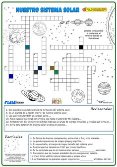 Spanish Lesson Plans, Spanish Lessons, Science Classroom, Social Science, Solar System Worksheets, Solar System Projects, Spanish Classroom, Science Lessons, Worksheets For Kids