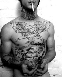 Tattooed guy. #ink #inked #tattoo #tattoo