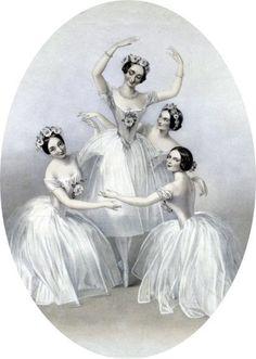 Free Antique Clip Art - Beautiful Ballerinas - The Graphics Fairy