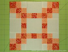 The New Irish Chain quilt block is a 9-patch so it's easier to make than a typical Irish Chain. Step-by-step instructions for the beginning quilter.