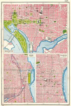 USA 1904 MARYLAND DELAWARE WASHINGTON DC Inset City Plans