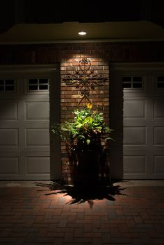 Light up your garage and all parts of your house with VOLT lighting Sidewalk Lighting, Pathway Lighting, Outdoor Lighting, Cool Landscapes, Get Outside, Doorway, Pathways, Light Up