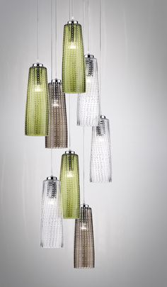 Acquista on-line Perle   lampada a sospensione By zafferano, lampada a sospensione in vetro soffiato design Federico de Majo, Collezione perle