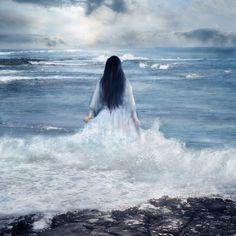 into the ocean..
