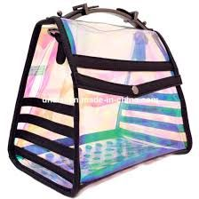 metallic leather rainbow colours handbag with chain Studded Backpack, Black Backpack, Hologram, Holographic, Metallic Leather, Rainbow Colors, Gym Bag, Satchel, Colours