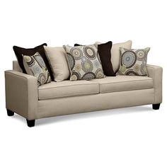 Trocadero Upholstery Sofa | Furniture.com $339.99 : Neutral living room. Cream sofa