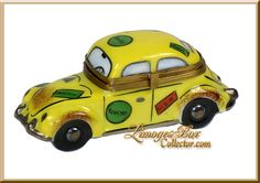 Volkswagon Beetle Car & Travel Stickers Limoges Box - Retired