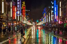 The nightlife on Granville Street | Downtown Vancouver, British Columbia