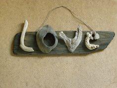 Driftwood love word Valentine gift by TassoStudio on Etsy, $65.00
