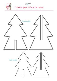 DIY Origami Christmas Trees Craft Tutorial from Birds Party - These are absolutely cute as they can be! Wooden Christmas Decorations, Christmas Crafts For Kids, Simple Christmas, Handmade Christmas, Holiday Crafts, Christmas Time, Christmas Ornaments, Origami Christmas, Cardboard Christmas Tree