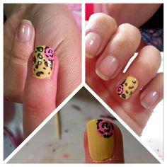 Nails art rose