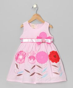 Take a look at this Light Pink Flower Sprout Bow Dress - Toddler & Girls by the Silly Sissy on #zulily today!