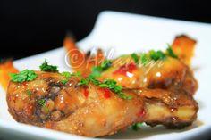 Terapia do Tacho: Coxinhas de frango agri-doces picantes (Spicy sweet & sour chicken drumsticks)
