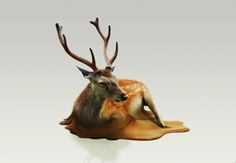 melting-deer that is an issue of global warming and nearly getting extinct.