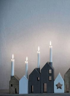 Beautiful house candle holders. Hjärterum