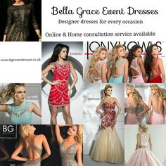 Bella Grace Event Dresses specialise in authentic designer event dresses for every occasion. Check out our website; www.bgeventdresses.co.uk for our full range of fabulous styles. If you dont find what you are looking for then please do not hesitate to contact us. Let us help you find that perfect event dresses!!