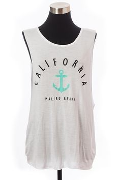 *** New Style *** CALIFORNIA ANCHOR KNIT SLEEVELESS TOP