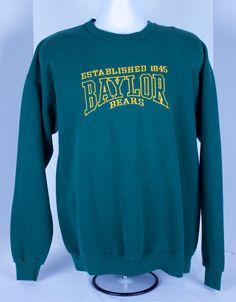 90s Baylor Bears University Green Crewneck by CodysVintagePickups