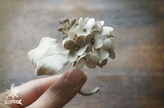corsage 【 布花ドライフラワーコサージュ * hydrangea 】 by BB LUCK アクセサリー コサージュ