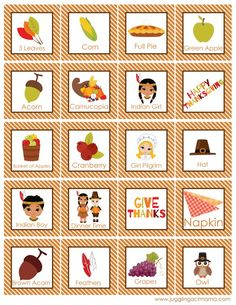 FREE Thanksgiving Bingo Game Printable great way to keep the kids busy while the turkey cooks!