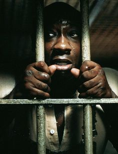 "Michael Clarke Duncan as John Coffey in ""The Green Mile"""