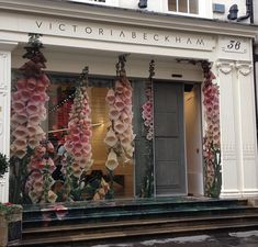 Victoria Beckham has installed a giant pink foxglove in her London shop that was designed ...