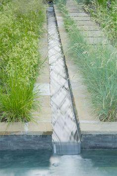 fashionable slim stream water feature | adamchristopherdesign.co.uk