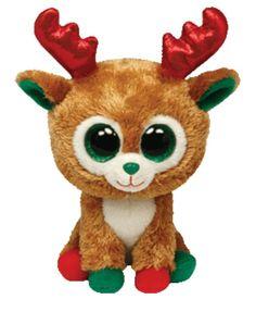 #Alpine Reindeer Beanie Boo #Red & Green #www.ty.com