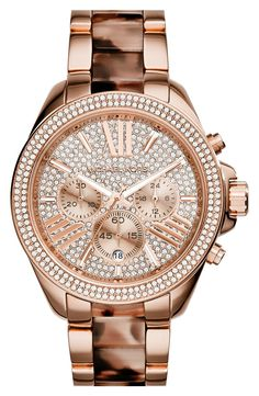 Hoping to get this sparkly rose gold Michael Kors watch for Valentine's day!