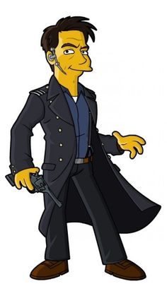 Can you name the Doctor Who characters based on their 'Simpsonized' drawings?