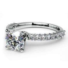 Treat your darling to delicate diamond elegance in an exquisite, graceful setting that enhances rather than overwhelms her hand: The beautiful Shared Prong Diamond Engagement Ring in stylish Platinum! http://www.brilliance.com/engagement-rings/shared-prong-diamond-ring-platinum-1/3-ctw