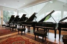 Showroom. Allegro Pianos (Acoustic Design and renovation by WSDG)