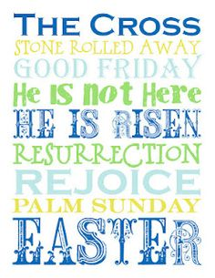Easter Subway Printable