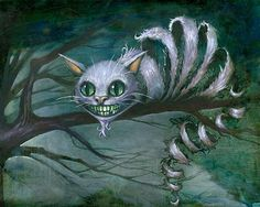 ALICE IN WONDERLAND - CHESHIRE CAT BY KEVIN ESLINGER