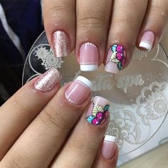 Mani Pedi, Manicure And Pedicure, Semi Permanente, Beauty Makeup, Hair Beauty, Short Square Nails, Nail Decorations, Nail Arts, You Nailed It