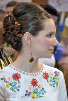 Hungarian traditional take. Whites, floral embroidery and beauty in the small details.
