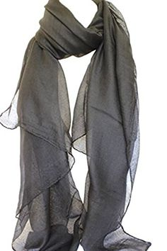 NEW DIFFERENT COLOURS PLAIN BEAUTIFUL LARGE MAXI SCARF HEAD SCARVES (Dark Grey). UK scarf. Women scarf. It's an Amazon affiliate link.