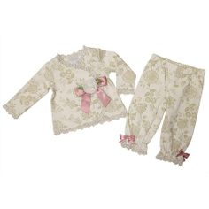 3a3952b2b9 Koala Baby Boutique Girls 2 Piece Ivory Floral Printed Long Sleeve  Asymmetrical Lace Trim Shirt and