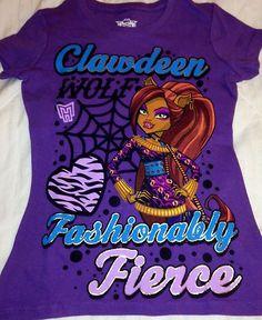 Monster High Clawdeen Wolf Shirt Monster High Outfit Girls Clothing